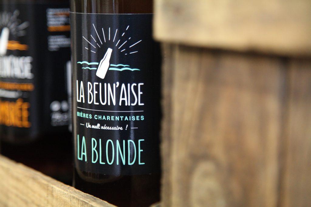 Logo de la bière La Beun'aise réalisé par PLUSCOM.