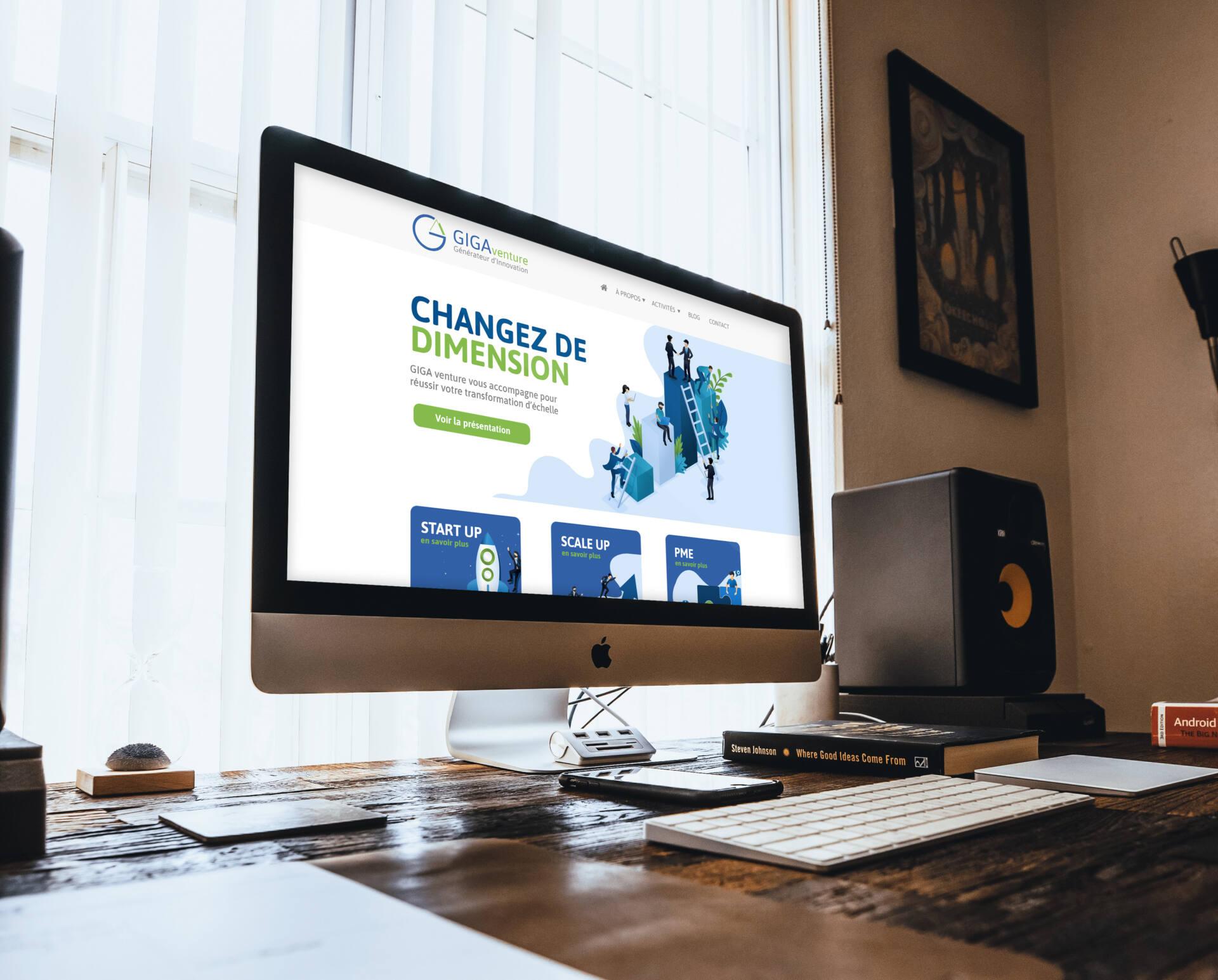 Site internet Giga Venture
