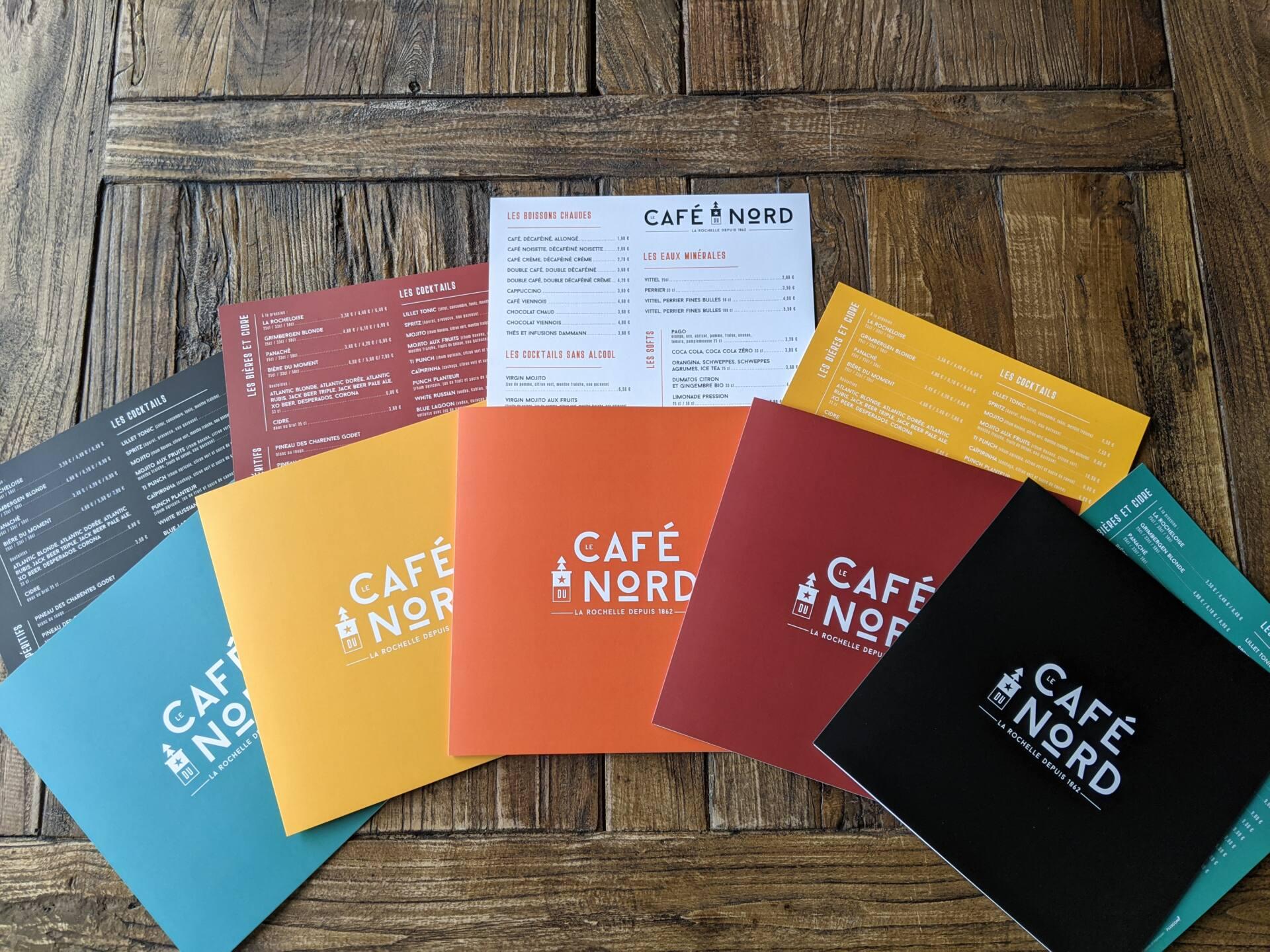 Carte de restaurant Le Café du Nord
