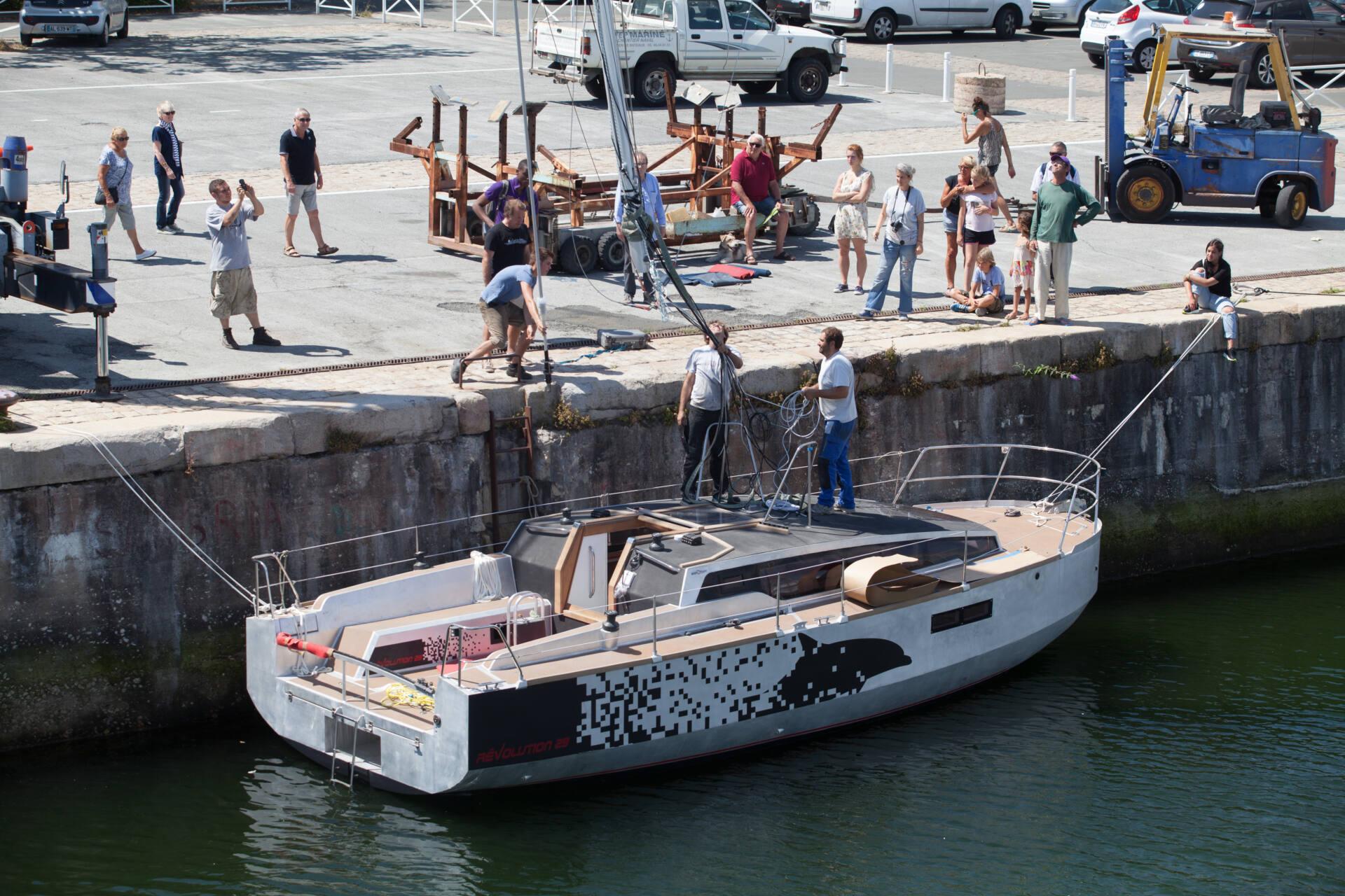 reportage photo mise à l'eau bateau